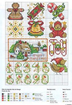 More Xmas cross stitch patterns Xmas Cross Stitch, Cross Stitch Christmas Ornaments, Cross Stitch Love, Christmas Embroidery, Christmas Cross, Counted Cross Stitch Patterns, Cross Stitch Charts, Cross Stitch Designs, Cross Stitching