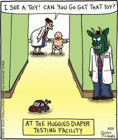 Meanwhile At The Huggies Testing Facility
