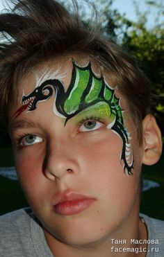 Dragon. Face paint by Tanya Maslova.