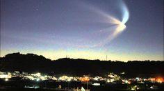 沖縄から撮影したH2Bロケット4号機(こうのとり4号機)打ち上げの連続写真