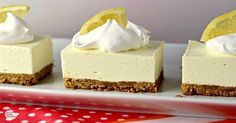 No Bake Lemon Cheesecake Squares Recipe