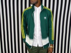 VTG Adidas Track jacket ( Mens vintage adidas retro zip up medium jacket 80's 90's trendy throwback unisex ) by ECLECTICPHOENIXVTG on Etsy https://www.etsy.com/il-en/listing/266309244/vtg-adidas-track-jacket-mens-vintage