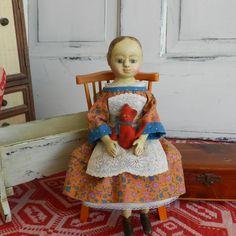 Izannah Walker style wooden doll by Alena Sinel
