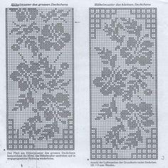 86fa58e765cd6c905d819fa104f17eda (500x503, 255Kb) Filet Crochet Charts, Tunisian Crochet, Thread Crochet, Irish Crochet, Crochet Stitches, Crochet Curtains, Crochet Doilies, Crochet Lace, Doily Patterns