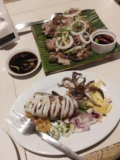Catherine Resort's Crispy Pata and Stuffed Squid