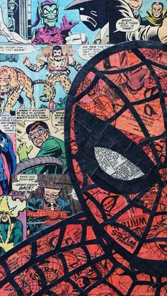 Digital crop of my original Spiderman collage. Each print will be hand signed. Printed on 80 lb. Ships in stay flat mailer. Amazing Spiderman, Marvel Art, Marvel Dc Comics, Comic Books Art, Comic Art, Comics Spiderman, Wallpaper Bonitos, Marvel Wallpaper, Spider Verse
