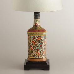 One of my favorite discoveries at WorldMarket.com: Indian Bottle Accent Lamp Base