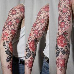 Amazing Ukrainian vyshyvanka male sleeve!
