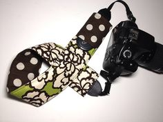 Dslr Camera Strap Slipcover with Lens Pocket  Green by KallieLilyS, $18.00