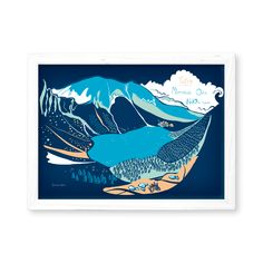 Morskie Oko - Tatry - Polish Mountains Mat Paper, Mountain Illustration, Tatra Mountains, A4 Poster, Posters, Lake Mountain, Maya, Digital Prints, The Originals
