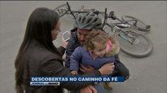 Caminho da fé: Vejo o padre ciclista e um peregrino de 70 anos | Jornal da Band | band.com.br