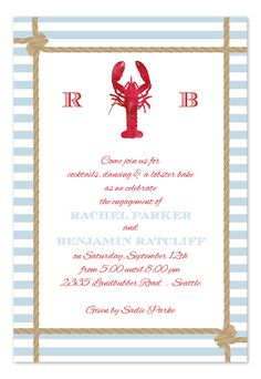 Lobster Catch - Party Invitations by Invitation Consultants. (Item # IC-RLP-760 )