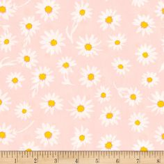 Art Gallery Wonderful Things Flower Glory Morning from @fabricdotcom  Designed by Bonnie Christine for Art Gallery Fabrics, this fun cotton print fabric features a classic daisy print on a soft pink background for a true summery feel. Perfect for quilting, apparel and home decor accents. Colors include pastel pink, white, pink and yellow.