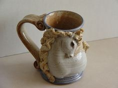 Captivating and Tactile Hand Crafted Horse Art Mug (in 3 D Relief)