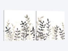 Liquid Stems Diptych Canvas Artwork by June Erica Vess 3 Piece Canvas Art, Canvas Artwork, Framed Art Prints, Canvas Prints, Silver Frames, Dark Backgrounds, Stems, Fine Art Paper, Remodeling