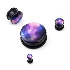 Sky Galaxy Milky Way Acrylic Single Flare O Ring Ear Plugs Gauges Solid Tunnel | eBay. i....i don't even.....i want these so bad.
