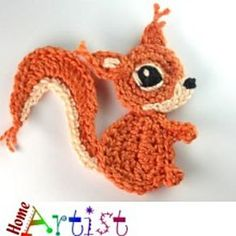 Squirrel Crochet Applique Pattern