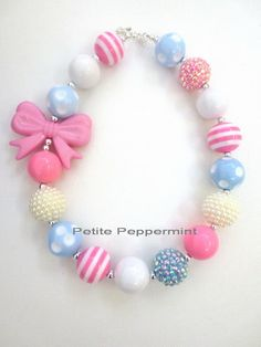 Toddler Chunky Necklace Little Girl Bubblegum Necklace