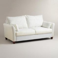 Small sofa at 72 inches but inexpensive and could put slipcover on it