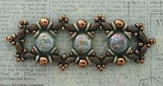 Linda's Crafty Inspirations: Playing with my Beads...Ivy Bracelet with 8mm Candy Beads