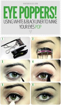 A few extra coats of black mascara will brighten the whites of your eyes.