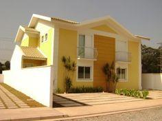 Como decorar la fachada de una casa Casas amarillas Pintar fachadas de casas Casas