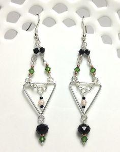 Pink Jeweled Chandelier Earrings Solo Artworks #thecraftstar ...