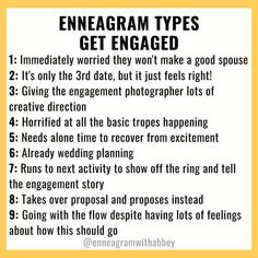 All 9 Enneagram types experiencing a marriage proposal! 💍  A little Enneagram humor to help you see your type in a funny way and maybe even learn a little something about your personality along the way! #enneagramwithabbey #shesaidyes #enneagram #enneagramtypes #personalitytype Wedding Proposals, Marriage Proposals, Wedding Poses, Wedding Ideas, Proposal Photos, Proposal Ideas, Enneagram Type 3, Something About You, Feeling Stuck