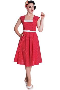 07954a3d951 This picnic ready number is a beautiful reproduction of the swing style  dresses from the