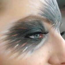 If you are using makeup to hint towards being something else, keep. Vogel Make-up. Sfx Makeup, Costume Makeup, Makeup Art, Beauty Makeup, Mask Makeup, Bird Makeup, Animal Makeup, Mermaid Makeup, Makeup Inspo