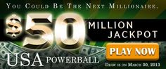 USA Powerball Rollover: US$ 50M Jackpot on March 30