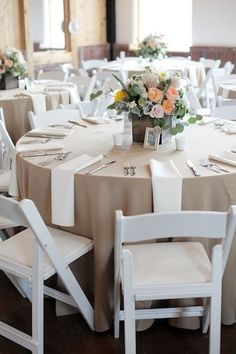 White wooden garden chairs are the perfect pick for a summer wedding! Call us today at 937-885-5454/513-315-9110. Visit our website for more information.