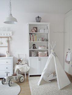 All-white kids room