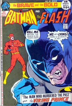 """Batman or Two-Face? The caped crusader has a fever, and there's only one prescription. Think fast, Flash! (One of Neal Adams' """"covers drawn before the story was written."""")"""