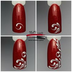 Decorating your nails can be a lot of fun. It will make a fashion statement. Research the hottest trends and styles to help keep you up-to-date. Nail Art Hacks, Nail Art Diy, Diy Nails, Manicure, Lace Nails, Glitter Nails, Simple Nail Art Designs, Nail Designs, Nail Art Arabesque