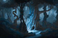 Night Forest by Sammich - Sam Nielson - CGHUB via PinCG.com