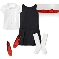 School Uniform with Red Sparkle