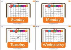 Practice the days of the week with flashcards from Super Simple Learning. #preK #Kindergarten #ESL