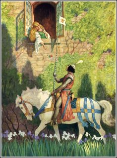 """Illustration """"The Prince"""" by N.C. Wyeth for the book """"The World of Music"""" published by Ginn and Company in 1937"""