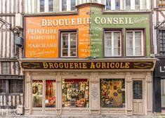 Rouen - Normandie - France. Vintage Store, Restaurants, Shop Facade, Rouen, Shop Fronts, Boutique, Window Shopping, Facades, Diorama