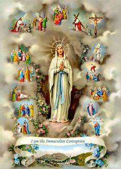 Novena To Our Lady of Lourdes February Each Day Pray Be blessed, O most pure Virgin, for having vouchsafed to manifest your s. Mama Mary, Catholic Pictures, Jesus Pictures, Mother Mary Pictures, Blessed Mother Mary, Blessed Virgin Mary, Catholic Art, Religious Art, Religious Icons