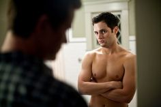 Pin for Later: The Hottest Shirtless Guys in Movies Penn Badgley, The Stepfather Penn's character has to square off with an evil stepfather, so it's a good thing he's been working out.
