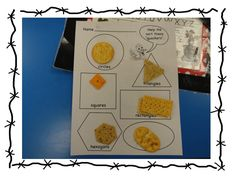 2D shape sorting with crackers
