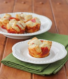 These Pepperoni Pull Apart Muffins are flaky, cheesy and just under 150 calories  or 4 Weight Watchers points each! Fast, easy and perfect party food. www.emilybites.com #healthy