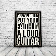 Rock Music Poster, A3 print, wall art, music, rock, punk: Amazon.co.uk: Kitchen & Home