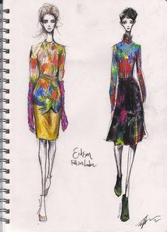 Sketch Show: Erdem A/W 2011 LONDON. pippa McManus, pippassketchshow.bloglovin