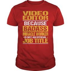 Awesome Tee For Video Editor T-Shirts, Hoodies. VIEW DETAIL ==► Funny Tee Shirts