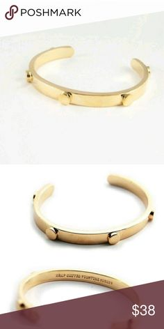 Half United Gold Cuff NWT RETAIL  Help Fight World Hunger Each item feeds between 1 to 7 meals to a hungry child  Handmade in the U.S  Gold plated  Bendable to fit your wrists Half United Jewelry Bracelets