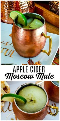 This Apple Cider Mule is going to be your favorite fall drink recipe! This is one of my favorite variations on a classic moscow mule with Apple Cider, vodka and ginger beer. Make a pitcher of it for your Thanksgiving, Christmas, or holiday party! Alcoholic Drinks Vodka, Alcohol Drink Recipes, Fall Drinks, Holiday Drinks, Apple Cider, Thanksgiving Cocktails, Halloween Drinks, Ginger Beer, Drink Recipes