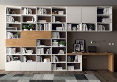 Il modello GME21 dalla collezione dei mobili soggiorno ha una struttura in bianco e in rovere naturale. Sceglilo se hai bisogno anche di un ufficio.